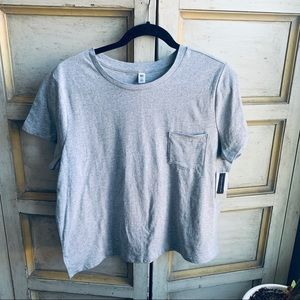 BP Gray Boxy Fit Cropped Pocket T-Shirt NWT